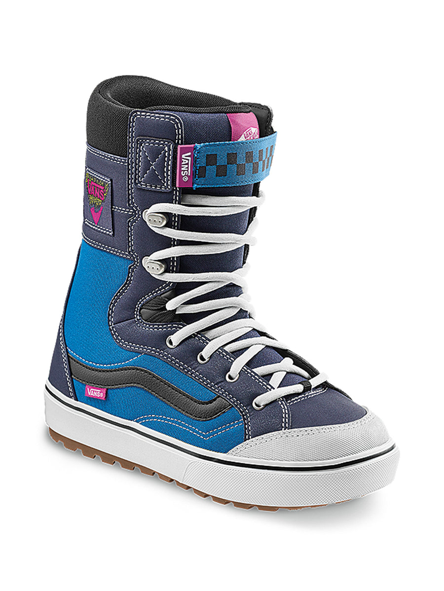 2021 Vans Hi-Standard Linerless DX Snowboard Boot in Navy and Fuchsia