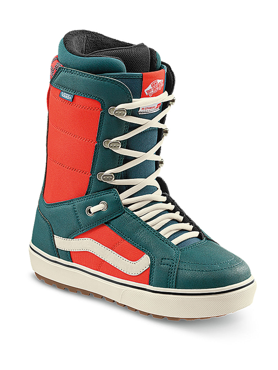 2021 Vans Hi-Standard OG Snowboard Boot in Atlantic and Orange