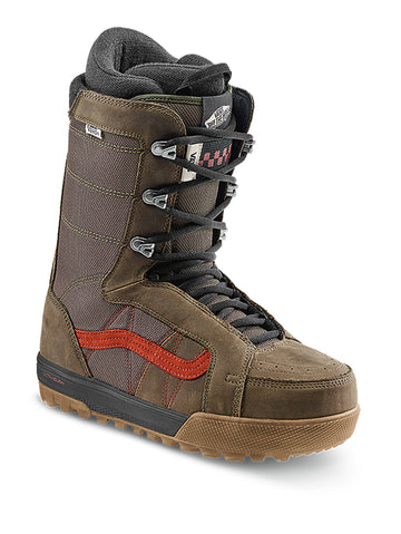 2021 Vans Hi-Standard Pro Snowboard Boot in Canteen Brown and Red