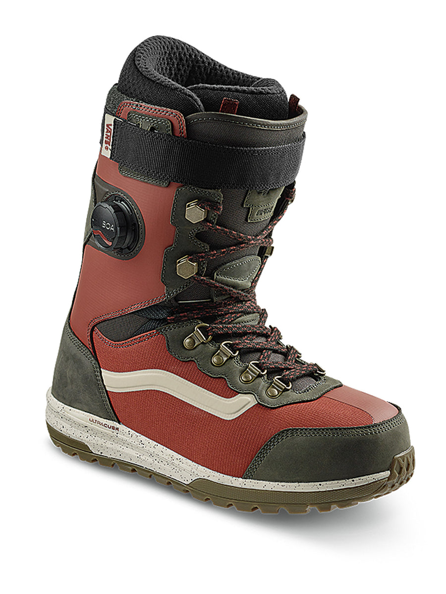 2021 Vans Infuse Snowboard Boot in Henna Red and Black