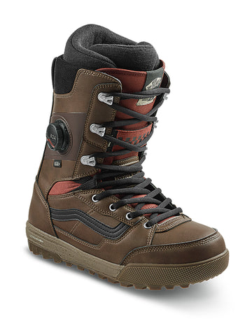 2021 Vans Invado Pro Snowboard Boot in Brown and Red