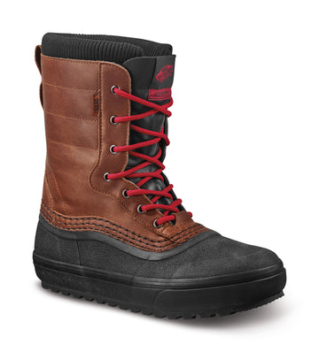 2022 Vans Standard Snow Mte Boot in Brown and Red
