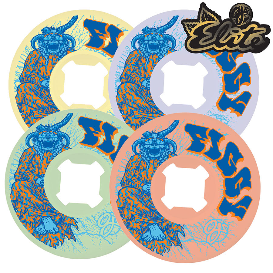 OJ Wheels 53mm Figgy Lightning Elite Mix Up Universals 101a Skate Wheel