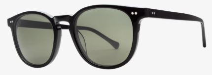 Electric Oak Sunglass in Gloss Black and Grey Polarized Lens