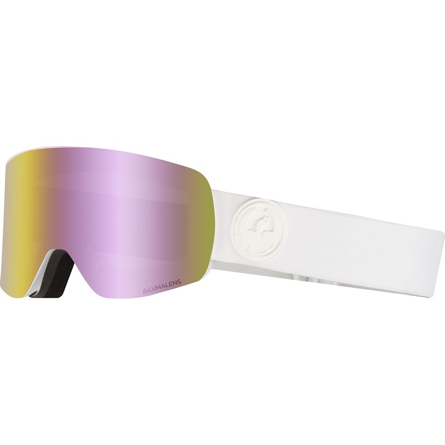 2020 Dragon NFX Snow Goggles in PK White with LL Red Ion and Pink Ion Lens