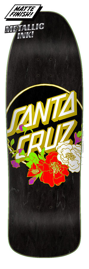 Santa Cruz Floral Dot Preissue Skate Deck in 9.35