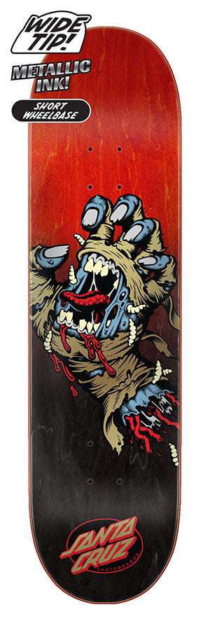 Santa Cruz Mummy Hand Wide Tip Skate Deck in 8.25