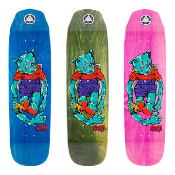 Welcome Teddy on Wicked Queen in Various Stains Skate Deck in 8.6