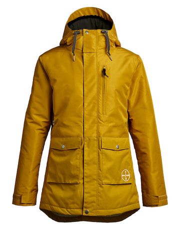 2021 Airblaster Womens Stay Wild Parka in Dark Gold