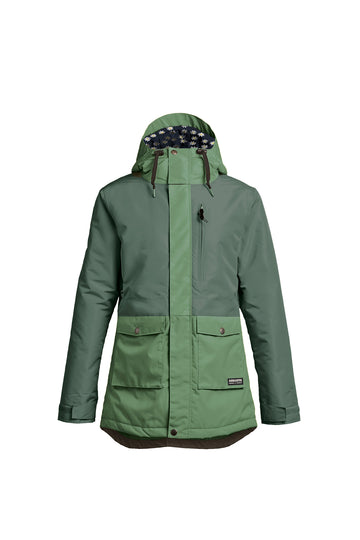 2022 Airblaster Stay Wild Parka Womens Snow Jacket in Lichen