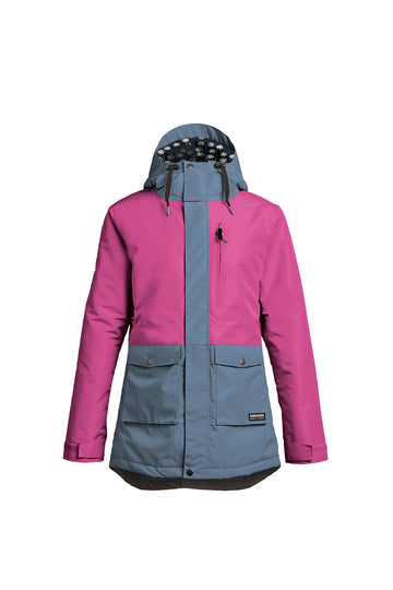 2022 Airblaster Stay Wild Parka Womens Snow Jacket in Magenta Sky
