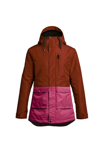 2021 Airblaster Womens Stay Wild Parka in Oxblood