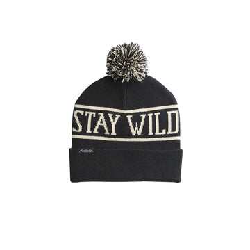 2020 Airblaster Stay Wild Pom Beanie in Black