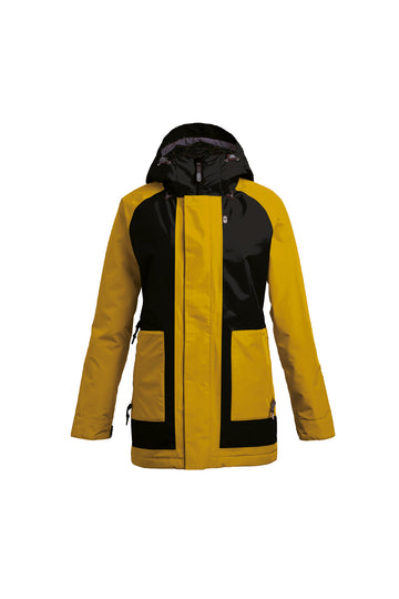 2022 Airblaster Storm Cloak Womens Snow Jacket in Black Gold