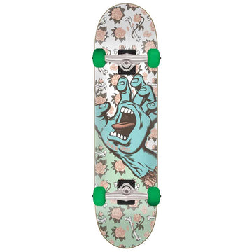 Santa Cruz Floral Decay Hand Full Complete Skateboard Deck in 8