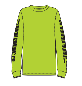2021 Union Binding Company (UBC) Mens Long Sleeve Tee in Safety Green