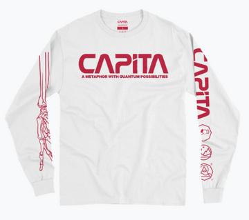 2021 Capita Quantum  Long Sleeve T Shirt in White