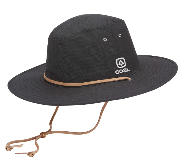 2020 Coal The Townsend Cotton Canvas Travel Hat in Black