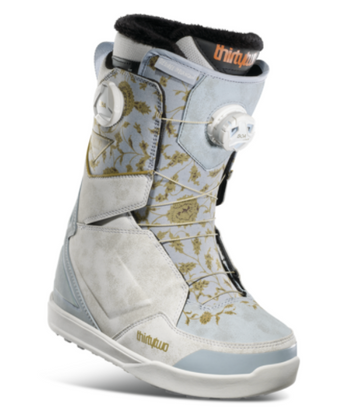 2021 Thirty Two (32) Womens Melancon Lashed Double Boa Snowboard Boot in White/Blue