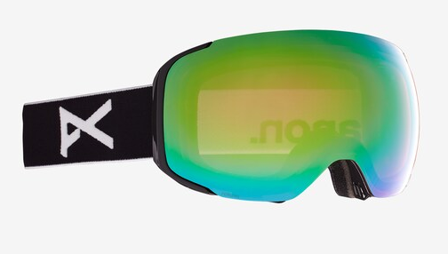 2021 Anon M2 Snow Goggle in Black with a Black Lens and a Perceive Variable Green Bonus Lens