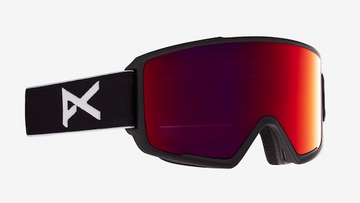 2021 Anon M3 Snow Goggle in Black with a Black Lens and a Perceive Sunny Red Bonus Lens