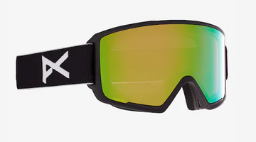 2021 Anon M3 Snow Goggle in Black with a Black Lens and a Perceive Variable Green Bonus Lens