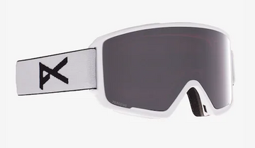 2021 Anon M3 Snow Goggle in White with a White Lens and a Perceive Sunny Onyx Bonus Lens