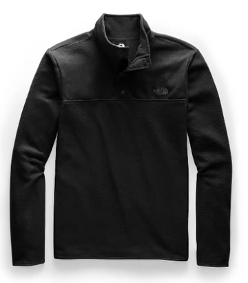 2021 The North Face TKA Glacer Snap Neck Pullover in Black