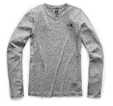 2021 The North Face Womens Warm Poly Base Layer Crew Top in Grey