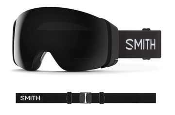 2021 Smith 4D MAG Snow Goggle in a Black Frame with a ChromaPop Sun Black Lens