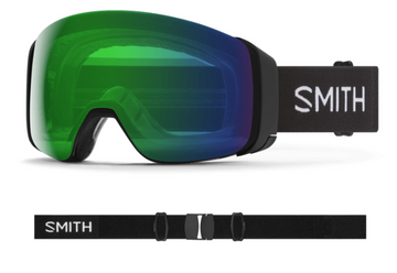 2021 Smith 4D MAG Snow Goggle in a Black Frame with a ChromaPop Everyday Green Mirror Lens