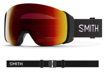 2021 Smith 4D MAG Snow Goggle in a Black Frame with a ChromaPop Sun Green Mirror Lens
