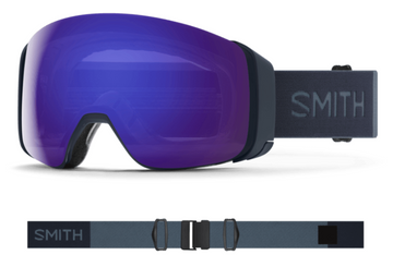 2021 Smith 4D MAG Snow Goggle in a French Navy Frame with a ChromaPop Sun Black Lens