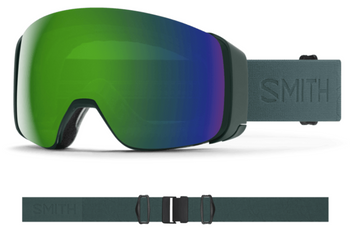 2021 Smith 4D MAG Snow Goggle in a Spruce Flood Frame with a ChromaPop Sun Green Mirror Lens