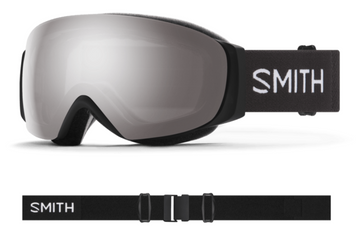 2021 Smith I/O MAG S Snow Goggle in a Black Frame with a ChromaPop Sun Platinum Mirror Lens