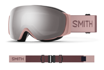 2021 Smith I/O MAG S Snow Goggle in a Rock Salt / Tannin Frame with a ChromaPop Everyday Rose Gold Mirror Lens