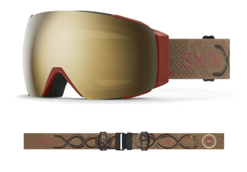 2021 Smith I/O MAG Snow Goggle in a Angel Collinson Frame with a ChromaPop Sun Black Gold Mirror Lens