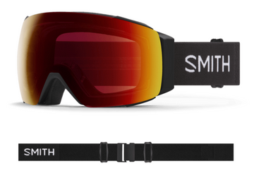 2021 Smith I/O MAG Snow Goggle in a Black Frame with a ChromaPop Sun Red Mirror Lens