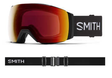 2021 Smith I/O MAG XL Snow Goggle in a Black Frame with a ChromaPop Sun Red Mirror Lens