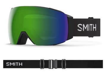 2021 Smith I/O MAG XL Snow Goggle in a Black Frame with a ChromaPop Sun Green Mirror Lens