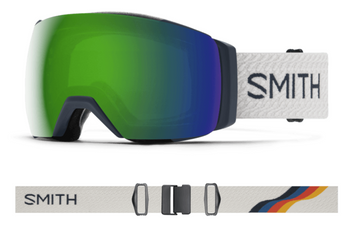 2021 Smith I/O MAG XL Snow Goggle in a French Navy Mod Frame with a ChromaPop Sun Green Mirror Lens