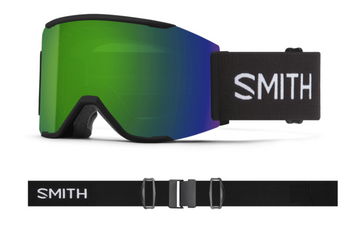 2021 Smith Squad MAG Snow Goggle in a Black Frame with a ChromaPop Sun Green Mirror Lens