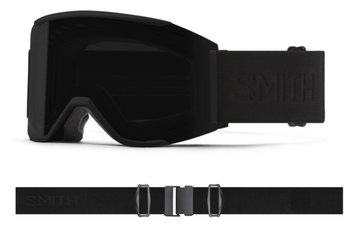2021 Smith Squad MAG Snow Goggle in a Blackout Frame with a ChromaPop Sun Black Lens