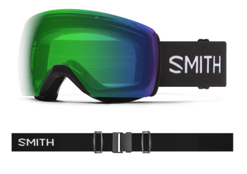 2021 Smith Skyline XL Snow Goggle in a Black Frame with a ChromaPop Everyday Green Mirror Lens