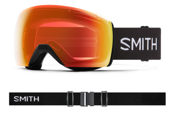 2021 Smith Skyline XL Snow Goggle in a Black Frame with a ChromaPop Everyday Red Mirror Lens