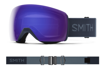 2021 Smith Skyline XL Snow Goggle in a French Navy Frame with a ChromaPop Everyday Violet Mirror Lens