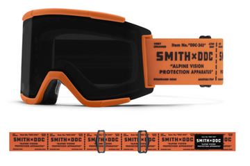 2021 Smith Squad XL Snow Goggle in a Artist Series Draplin Frame with a ChromaPop Sun Black Lens