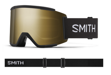 2021 Smith Squad XL Snow Goggle in a Black Frame with a ChromaPop Sun Black Gold Mirror Lens