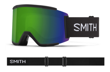 2021 Smith Squad XL Snow Goggle in a Black Frame with a ChromaPop Sun Green Mirror Lens