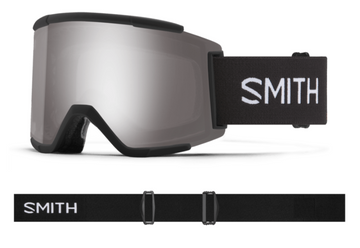 2021 Smith Squad XL Snow Goggle in a Black Frame with a ChromaPop Sun Platinum Mirror Lens